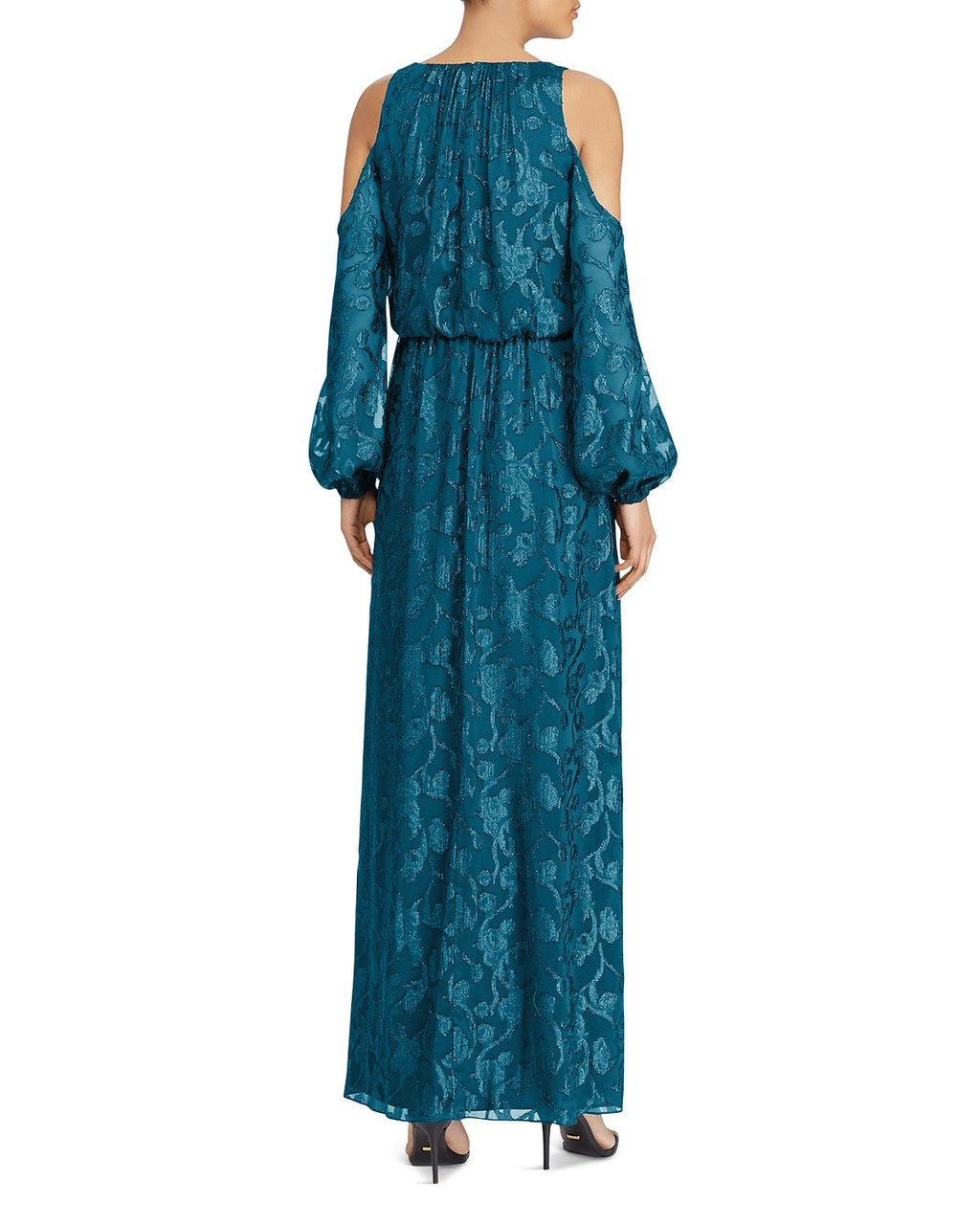 Cold Shoulder Blouson Gown