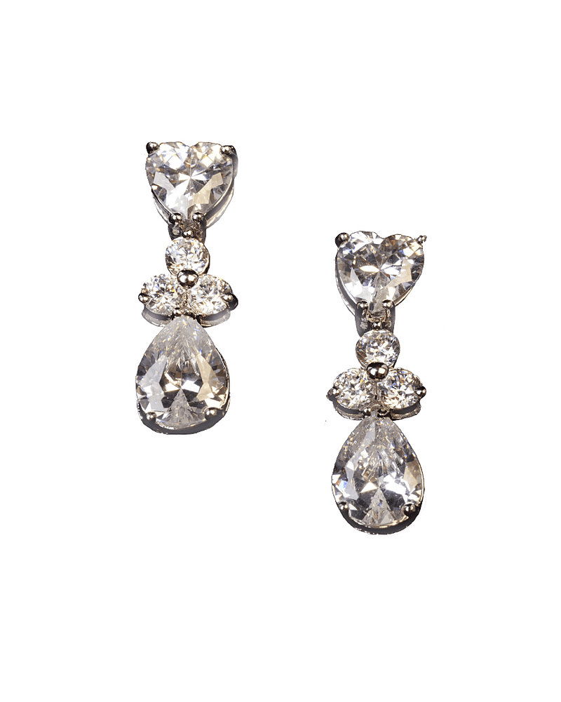 Crystal Pendant Earrings - Jolie - Covetella Dress Rentals