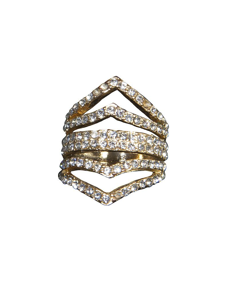 Faux Diamond Ring by Jolie - Rent or Buy It at Covetella