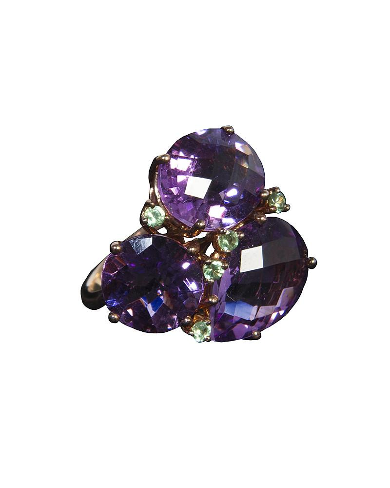 Purple Faux Crystal Ring by Jolie - Rent or Buy It at Covetella