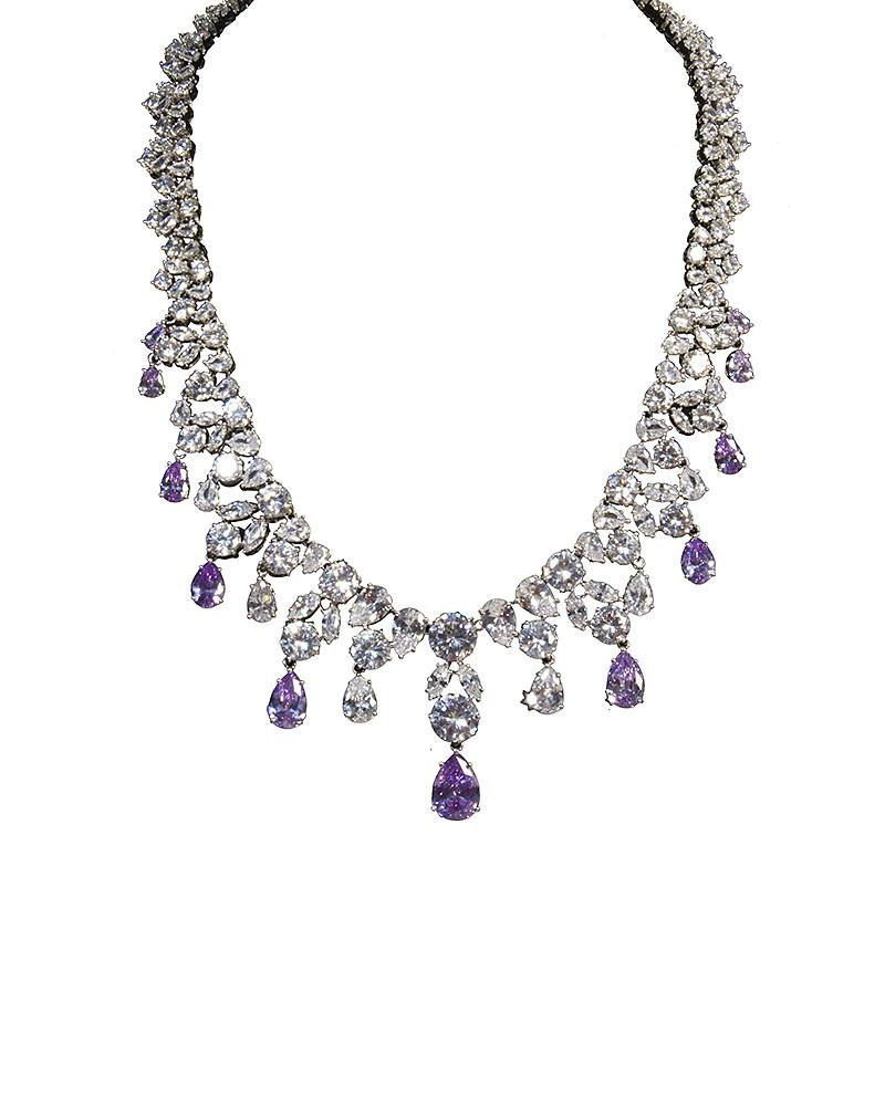 Purple Crystal Necklace by Jolie - Rent or Buy It at Covetella