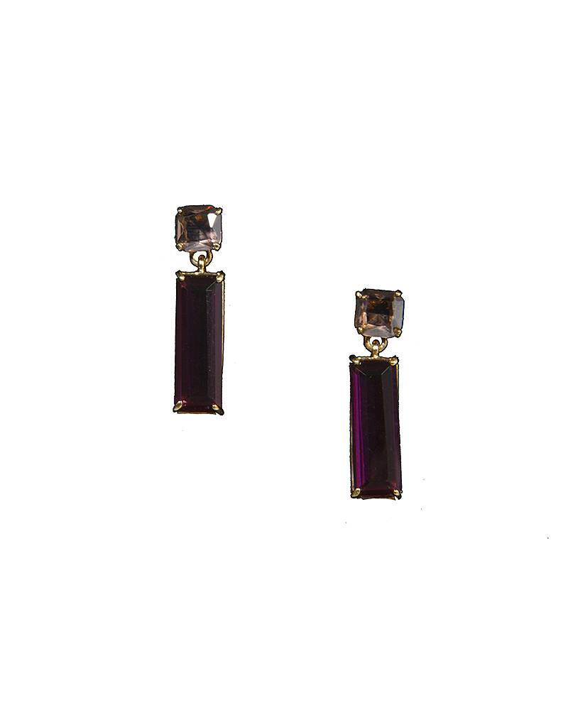 Squared Drop Earrings by Jolie - Rent or Buy It at Covetella