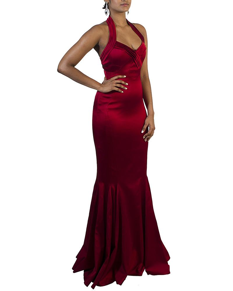 Open Back Mermaid Gown - Karen Millen - Covetella Dress Rentals