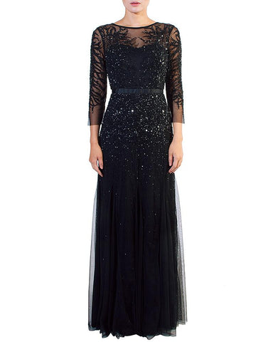 Illusion Sequined Multi Layer Gown by Adrianna Papell - Rent or Buy It at Covetella