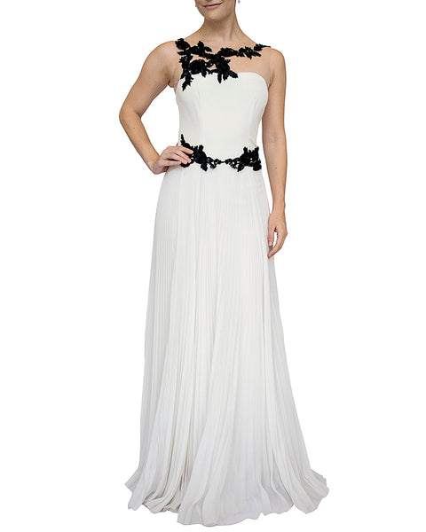 ab6dad41 Contrast Floral Beaded Gown by Marchesa Notte - Rent or Buy It at Covetella