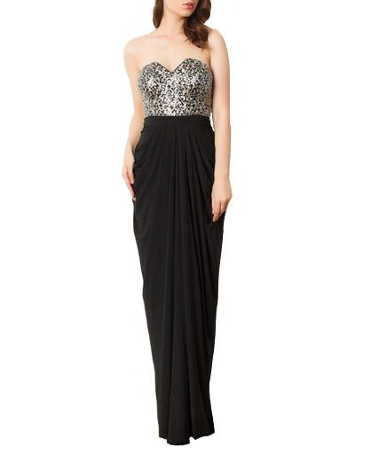 Strapless Embellished Bodice Gown by George - Rent or Buy It at Covetella