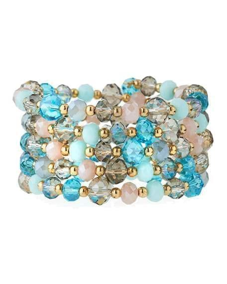 Wrap-Around Multi-Color Crystal Bracelet by Greenbeads - Rent or Buy It at Covetella