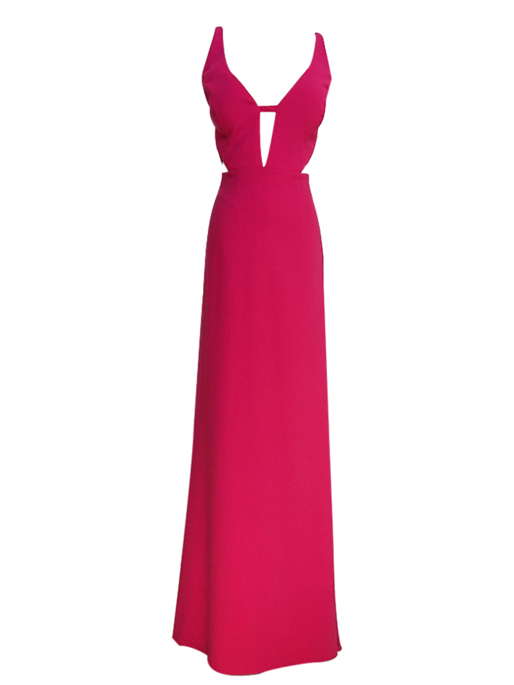 Pink C-Out V-Neck Gown