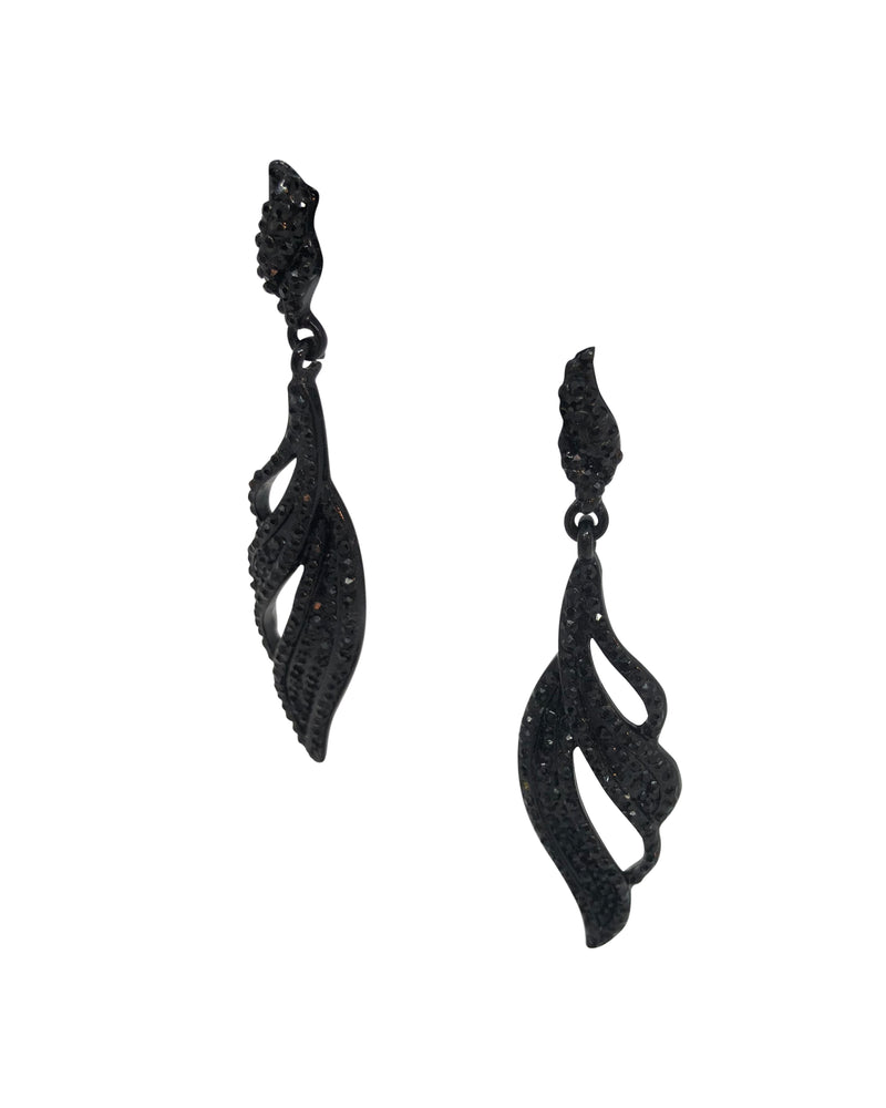 Black Leaf Earring