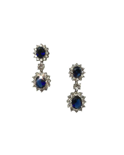 Sapphire Stone Drop Earrings