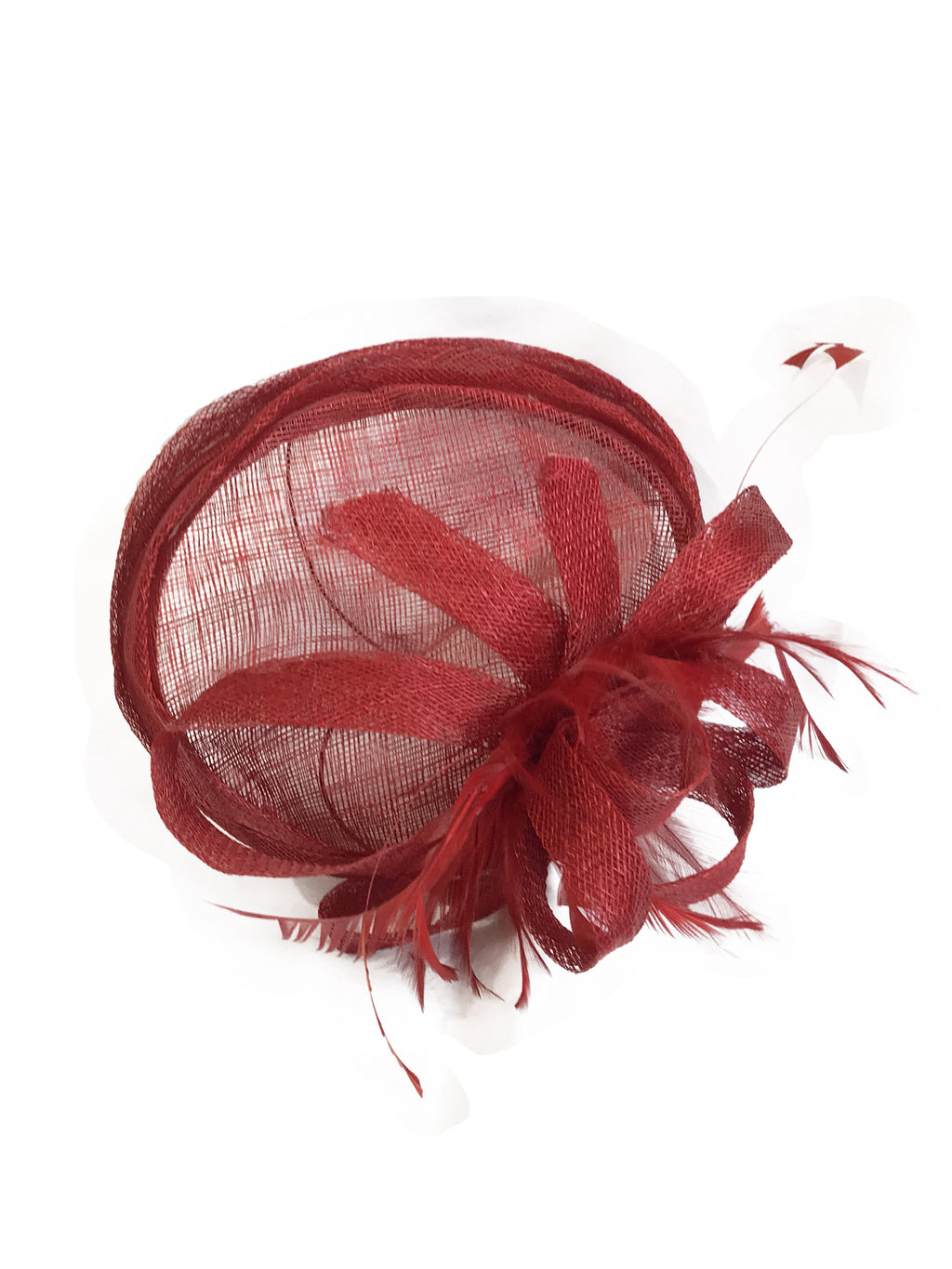 Red Feather Fascinator - Jolie - Covetella Dress Rentals