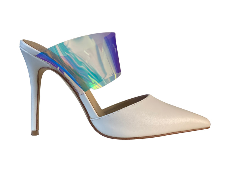 Aldo White Holographic Stilettos
