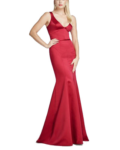 Paneled V Neck Mermaid Gown - Truly Zac Posen - Covetella Dress Rentals