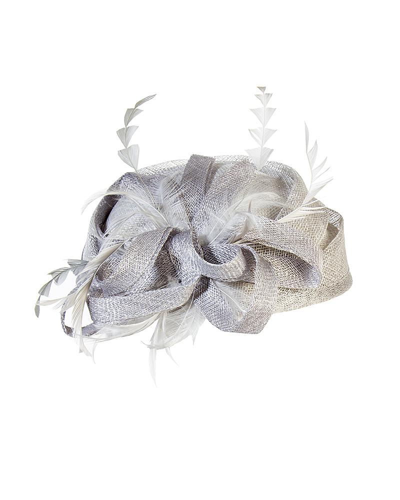 Metallic Feather Fascinator - Jolie - Covetella Dress Rentals