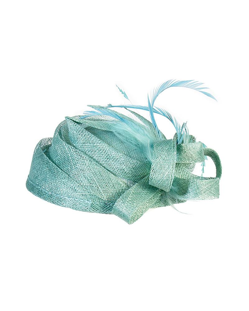Feather Pillbox Hat - Jolie - Covetella Dress Rentals