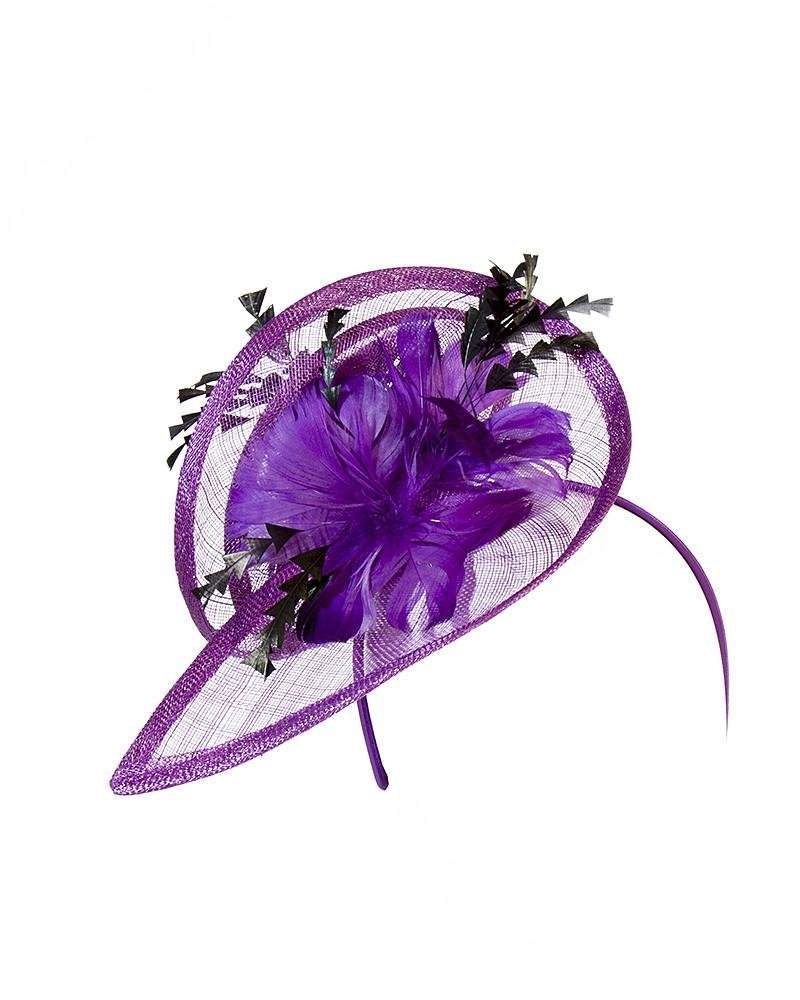 Purple Fascinator Headband by Jolie - Rent or Buy It at Covetella