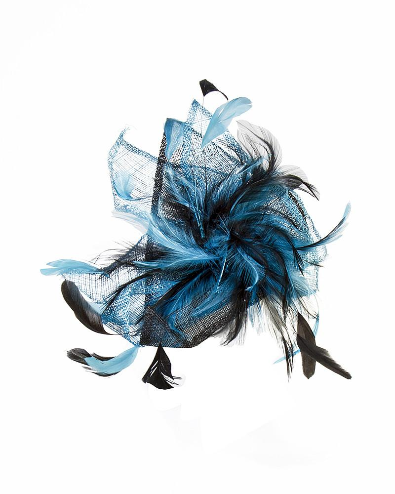 Two Tone Feather Fascinator by Jolie - Rent or Buy It at Covetella