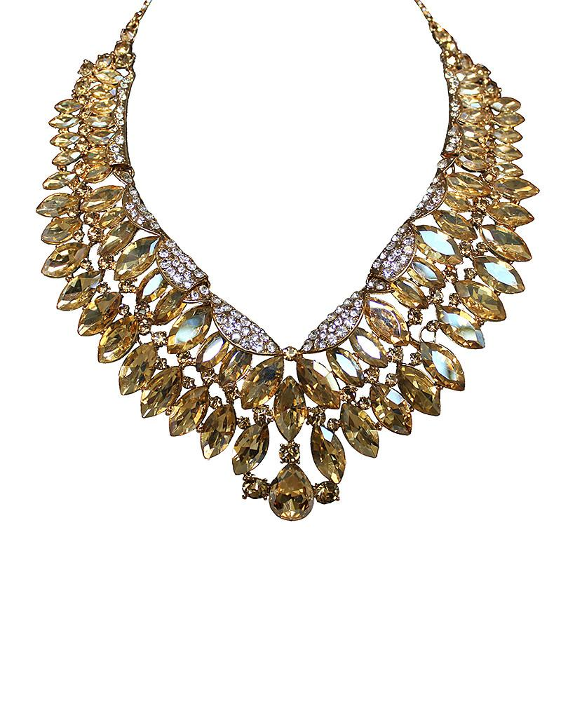 Gold Choker Teardrop Necklace - Jolie - Covetella Dress Rentals