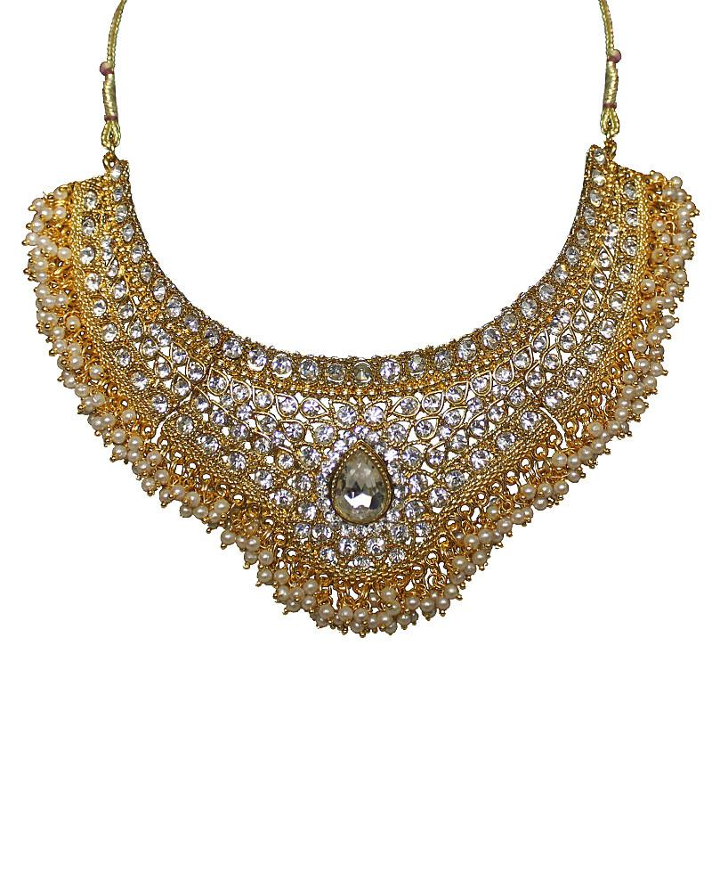 Elaborate Pearl Necklace - Jolie - Covetella Dress Rentals