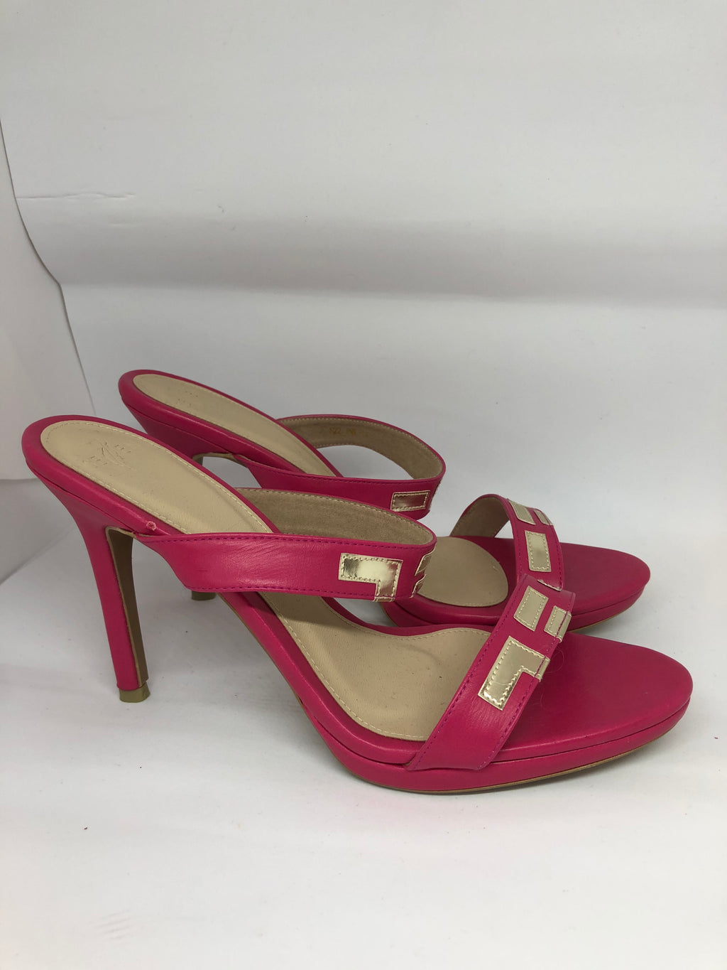 Pink Two Strap Heels