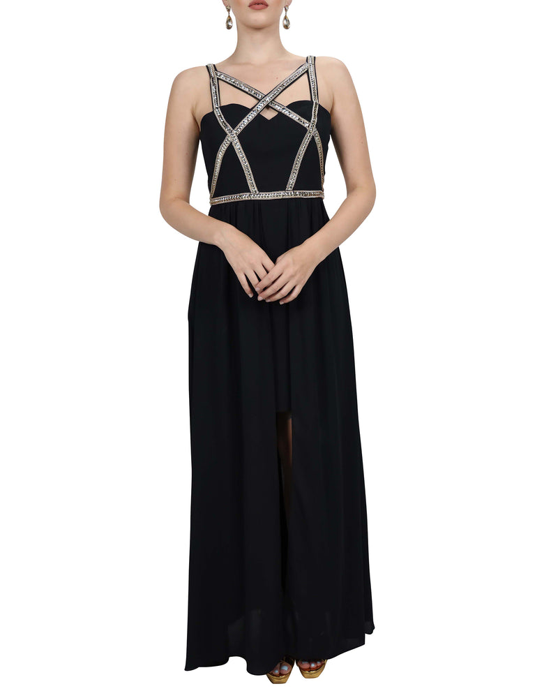 Crystal Chained Strap Gown