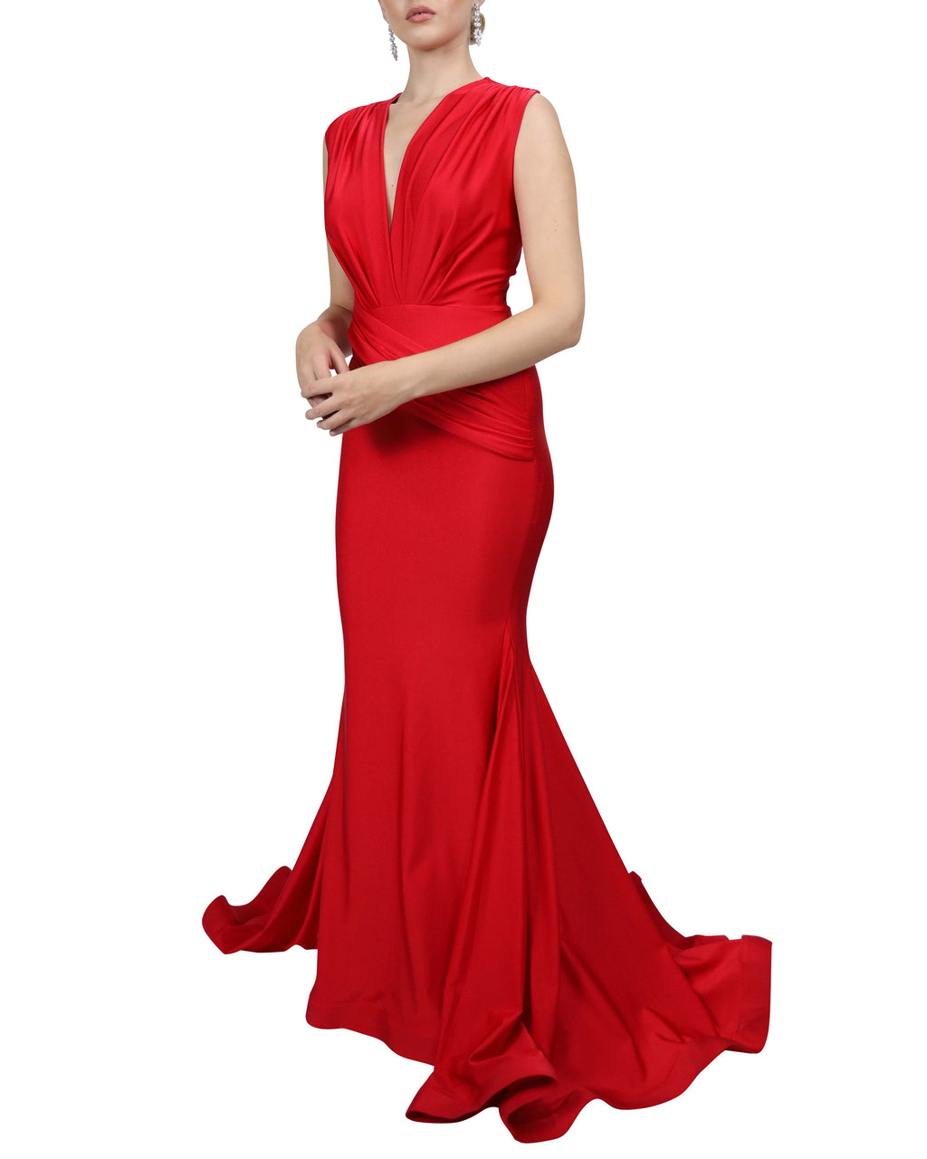 Sleeveless Jessica Gown - Red