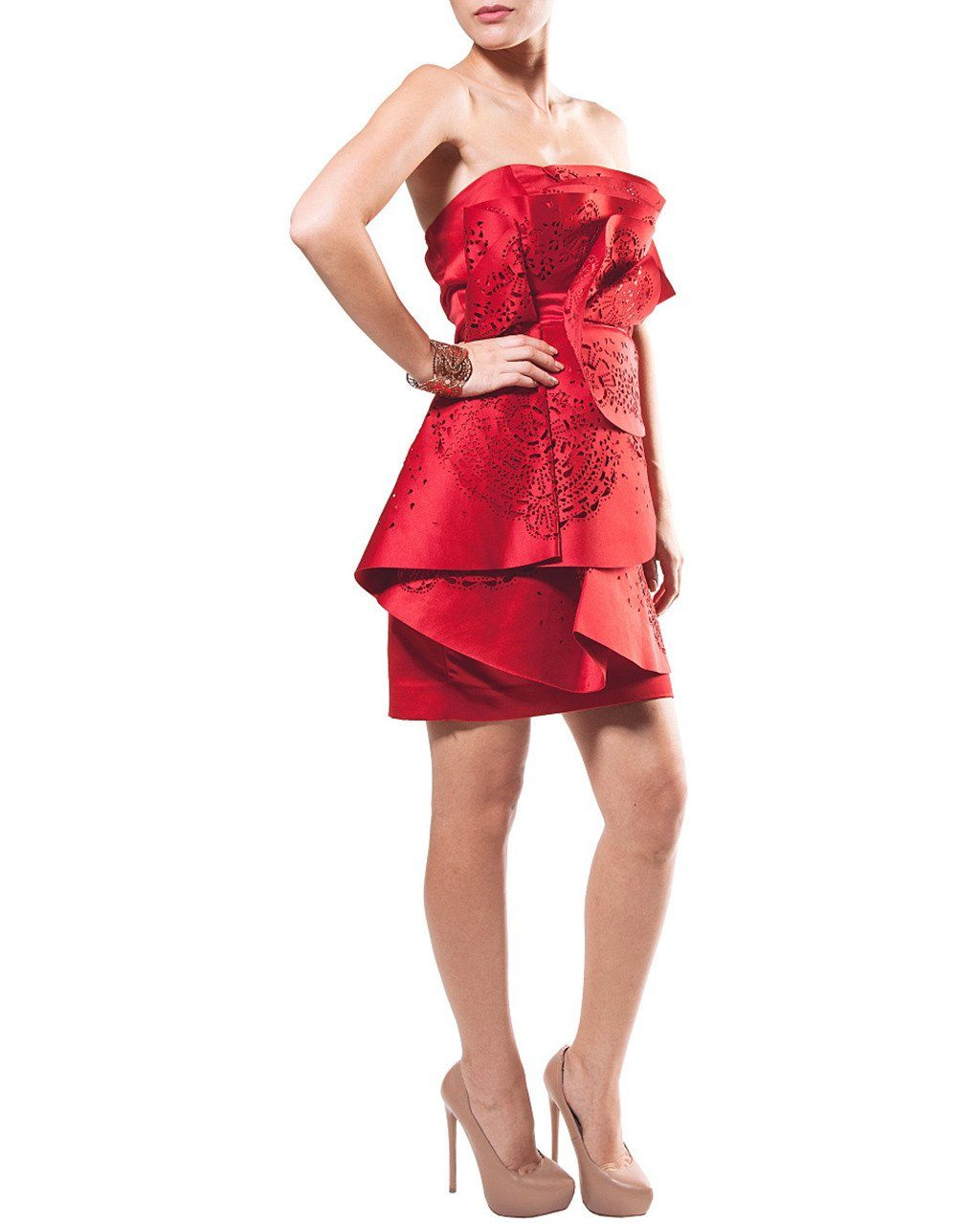 Strapless Origami Dress by Leedy - Rent or Buy It at Covetella