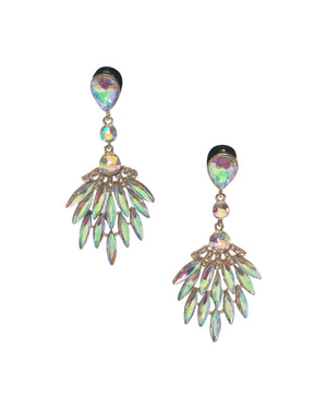 Spiky Iridescent Stone Earrings