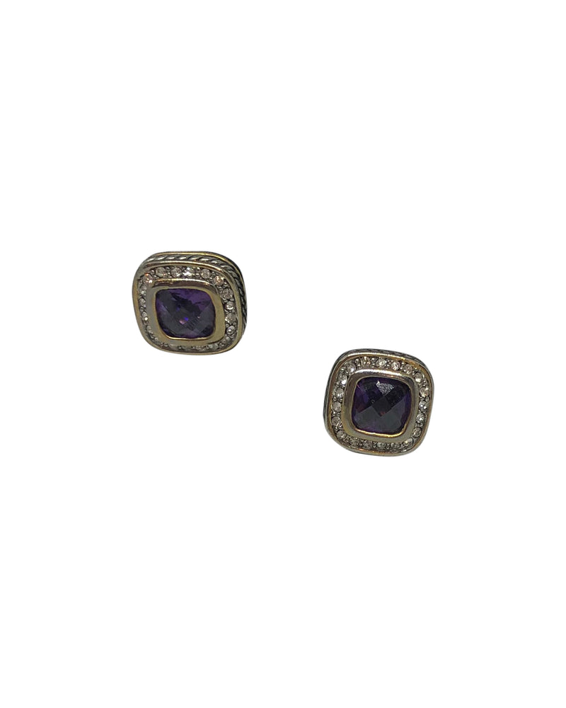 Purple Square Studs