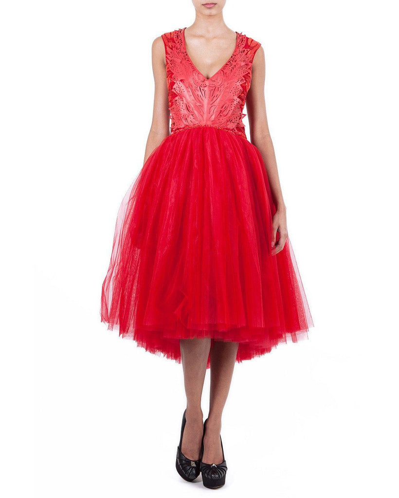 V-Neck Babydoll Tulle Dress by Zardoze - Rent or Buy It at Covetella