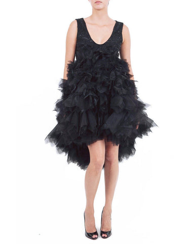 Ruffled Babydoll Dress - Zardoze - Covetella Dress Rentals