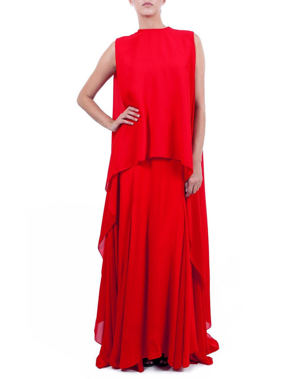 Draped Layered Gown - Zardoze - Covetella Dress Rentals
