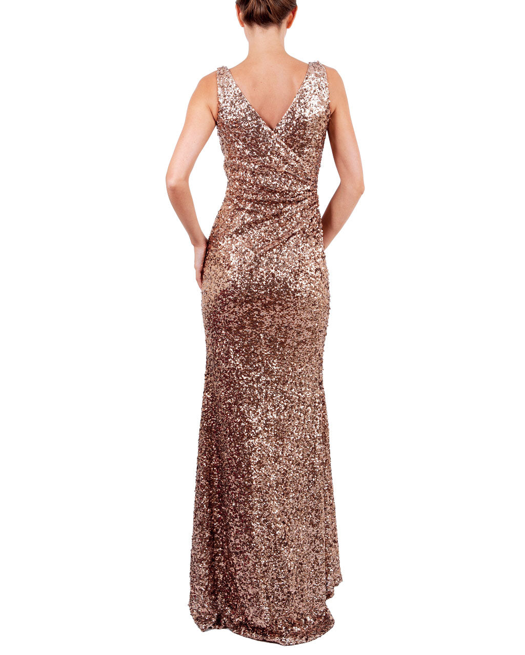 Faux Wrap V-Neck Sequin Gown by Badgley Mischka - Rent or Buy It at ...