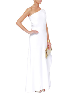 One-Shoulder Cape Sleeve Gown