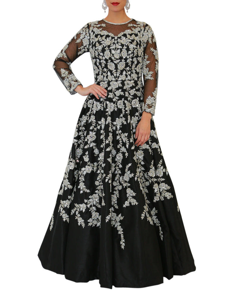 Embroidered Full Sleeve Gown