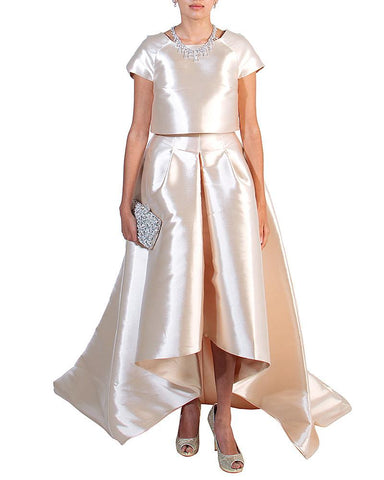 Top & Skirt Evening Outfit by John Paul Ataker - Rent or Buy It at Covetella