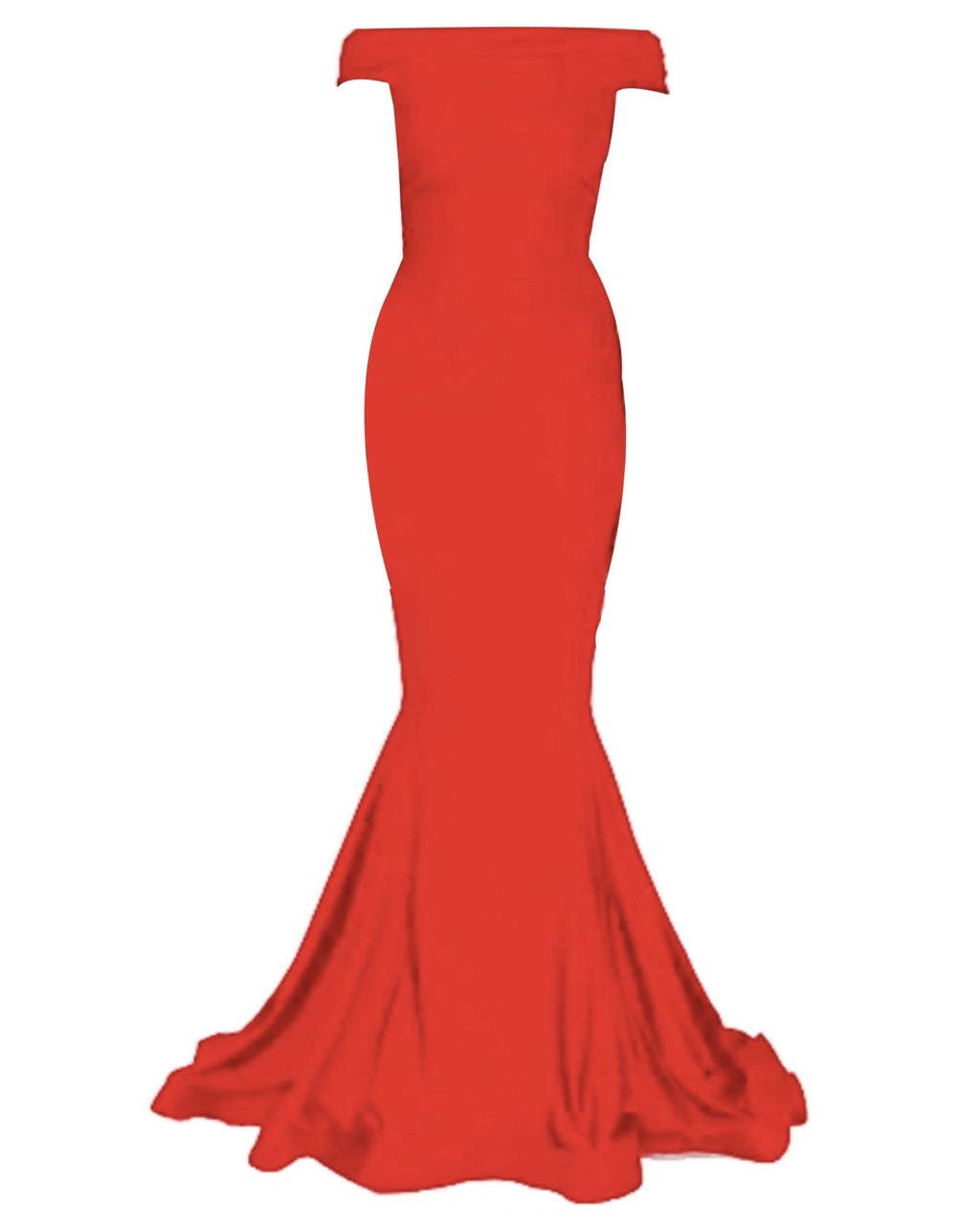 Off-Shoulder Jessica Gown - Red
