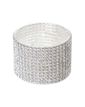Silver Crystal Bracelet - Covetella - Covetella Dress Rentals