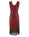 Red Fringed Gatsby Dress