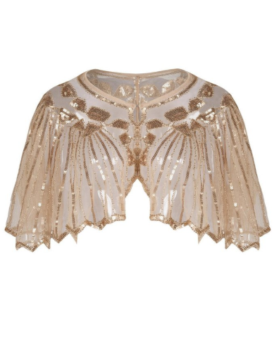 Beaded Sequin Flapper Cape