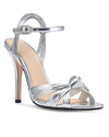 Metallic Silver Bow Stilletoes