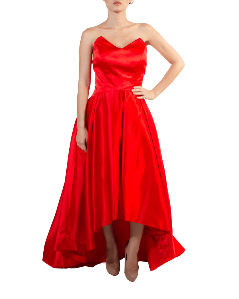 Bustier High-Low Gown - Prive - Covetella Dress Rentals