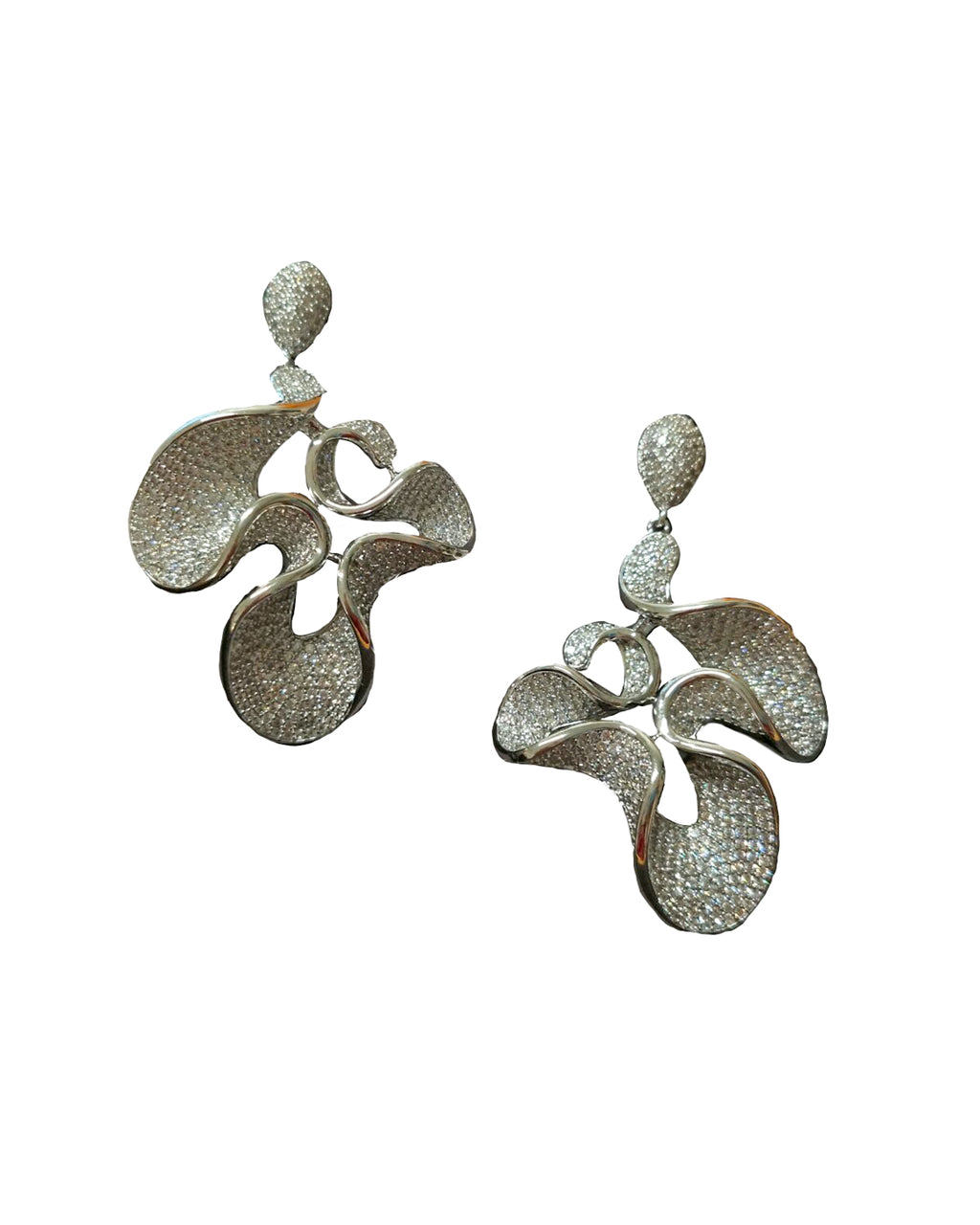 Crystal Wavy Earrings - Covetella - Covetella Dress Rentals