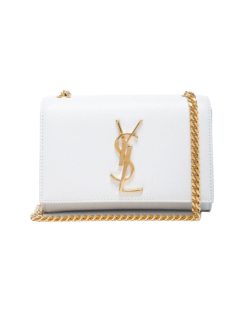 Small Monogramme Chain Bag White