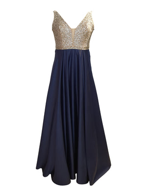 Blue Sequin Royal Gown