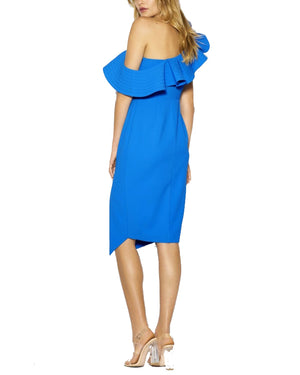 One Shoulder Ruffle Cocktail Dress