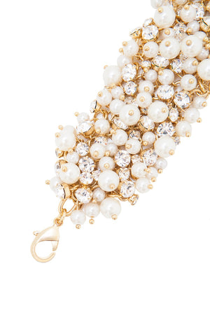 Sleeping Beauty Bracelet (Gold/Pearl)