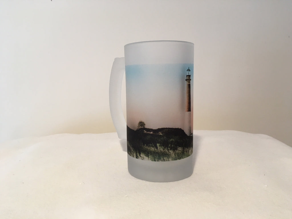 Colorful Frosted Glass Mug Of New Jersey's Barnegat Light - That Fabled Shore Home Decor
