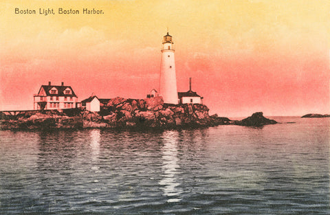 Boston Light At Dawn Night Light - That Fabled Shore Home Decor