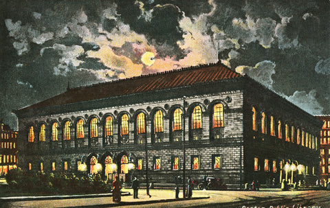 Boston Public Library By Gaslight Night Light - That Fabled Shore Home Decor